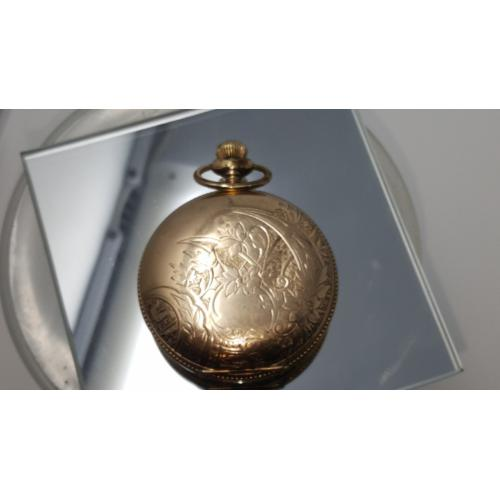 Vintage Illinois 14k gold plated Pocket Watch